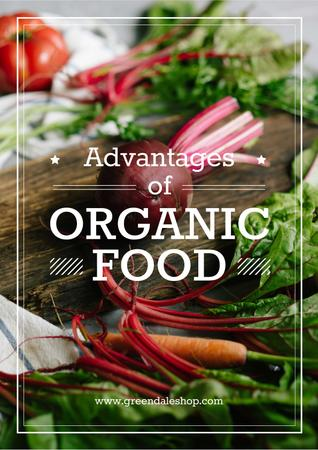 Plantilla de diseño de Advantages of organic food Poster