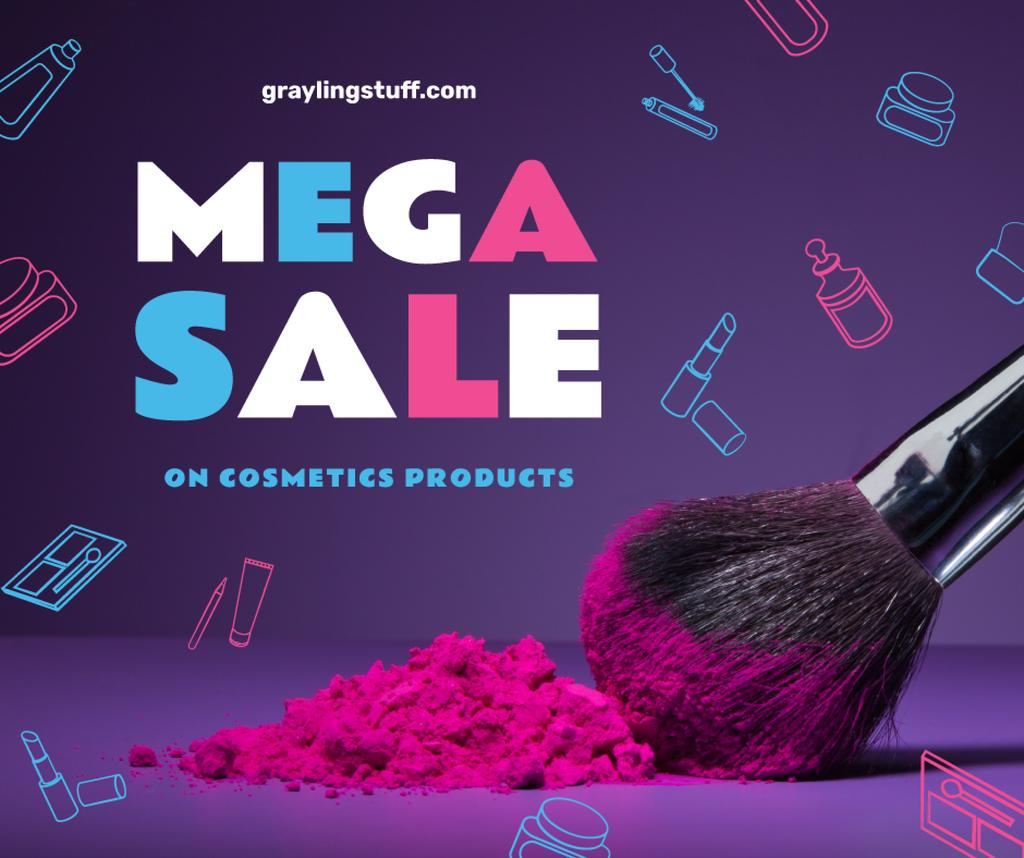 Makeup Sale with brush and powder — Crear un diseño