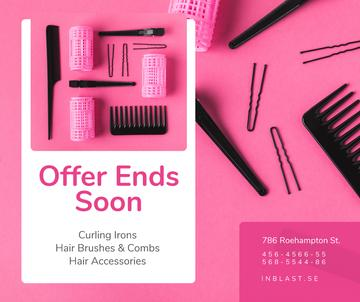 Hairdressing Tools Sale Announcement in Pink