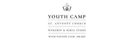 Youth religion camp of St. Anthony Church Twitter Modelo de Design
