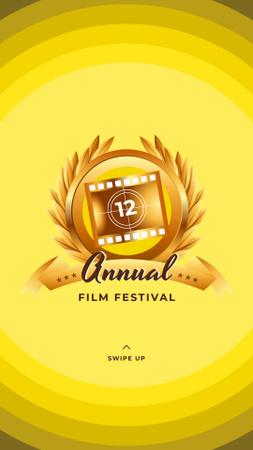 Film Festival golden frame Instagram Storyデザインテンプレート