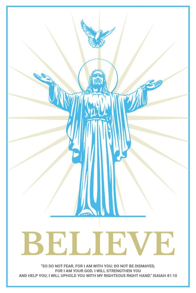 Believe religious poster — Create a Design
