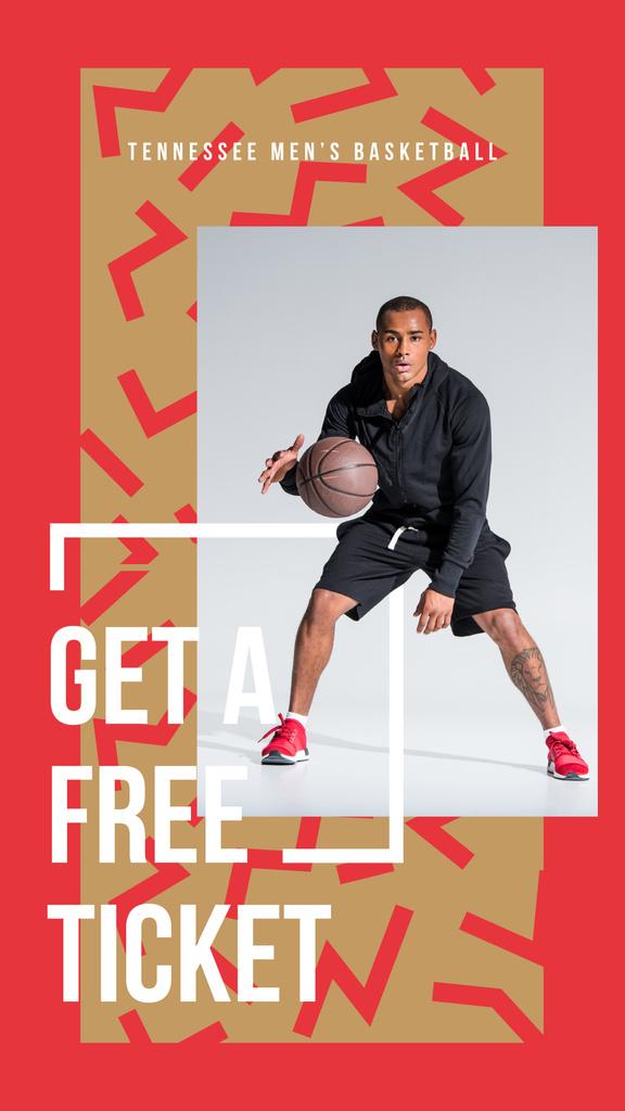 Man playing basketball Instagram Story Modelo de Design