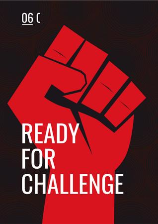 Ready for challenge Quote Posterデザインテンプレート