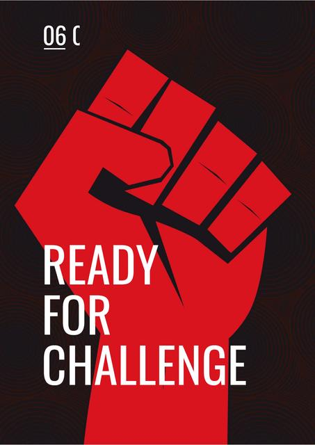 Ready for challenge Quote Poster Design Template