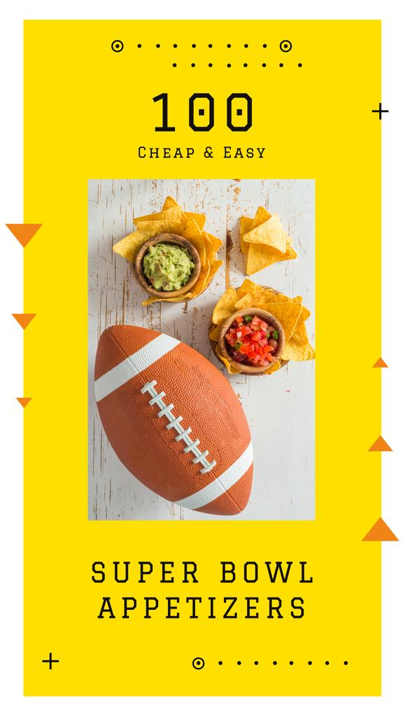 Rugby ball with snacks — Crea un design
