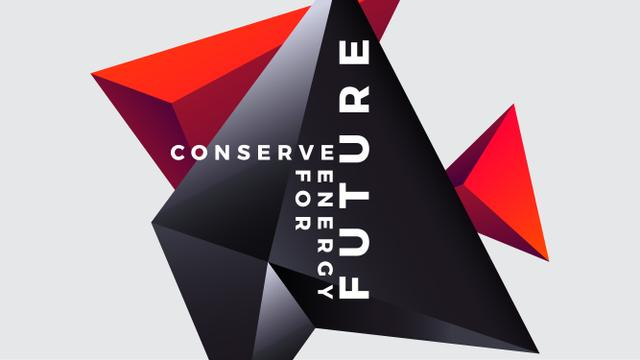 Concept of Conserve energy for future Youtube Design Template