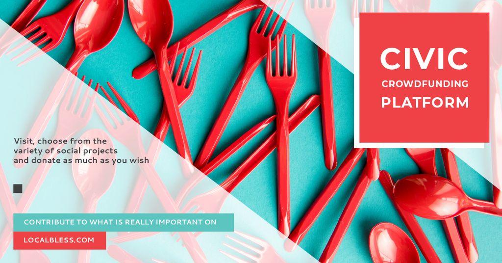 Crowdfunding Platform Red Plastic Tableware — Створити дизайн