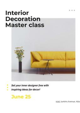 Masterclass of Interior decoration with Yellow Sofa