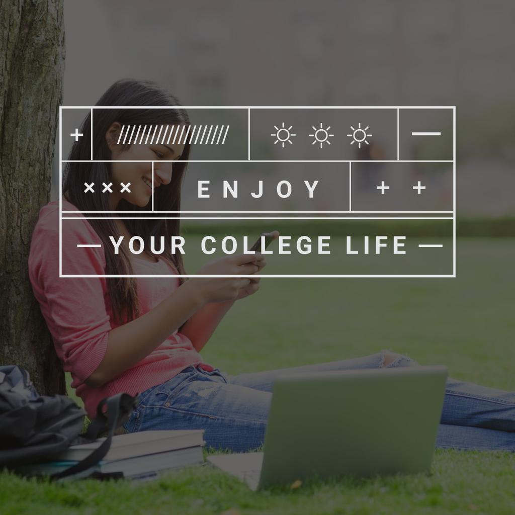 Welcome to the college life poster — Crear un diseño