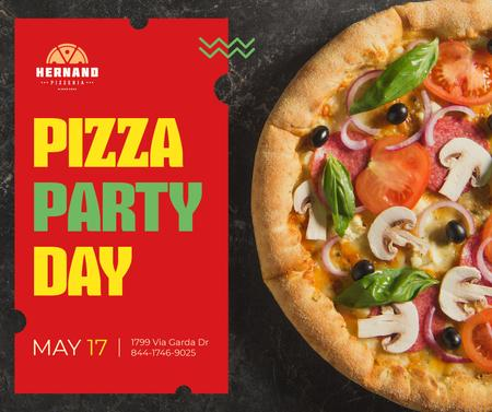 Modèle de visuel Pizza Party Day celebration - Facebook