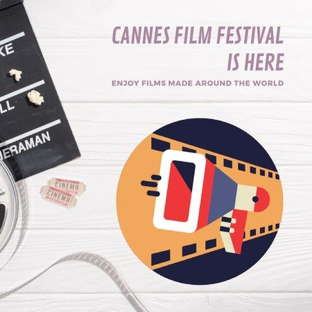 Cannes Film Festival Animated Postデザインテンプレート