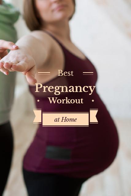 Pregnant woman doing yoga Pinterest Design Template