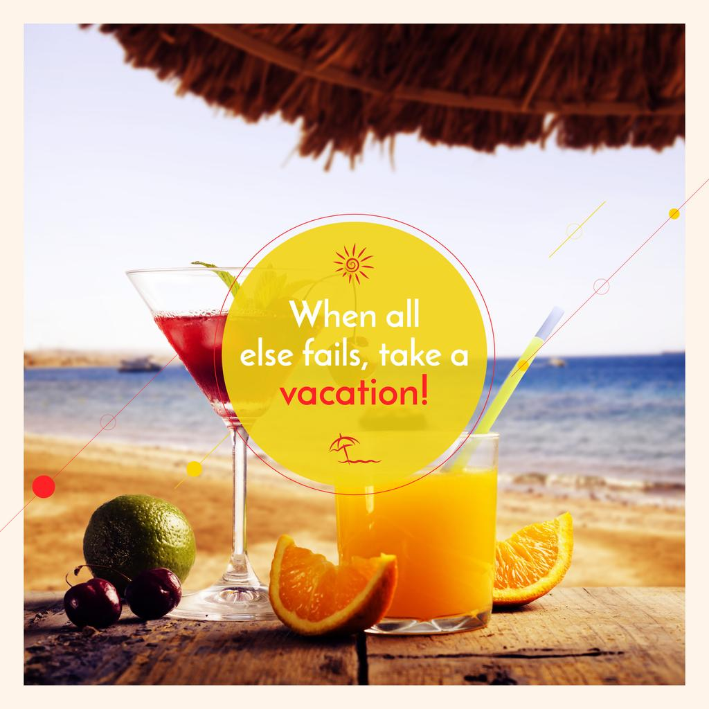 Vacation Offer Cocktail at the Beach — Modelo de projeto