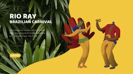 People dancing at carnival Full HD video Design Template