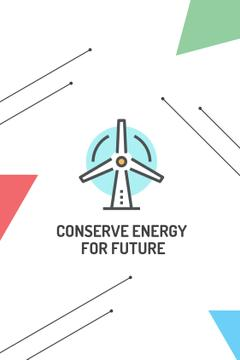 Conserve Energy Wind Turbine Icon
