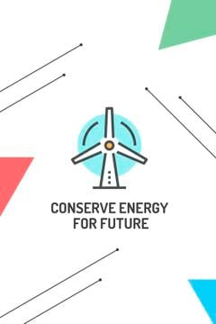 Conserve Energy Wind Turbine Icon | Tumblr Graphics Template