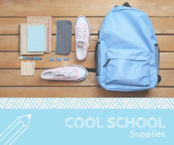 School supplies poster