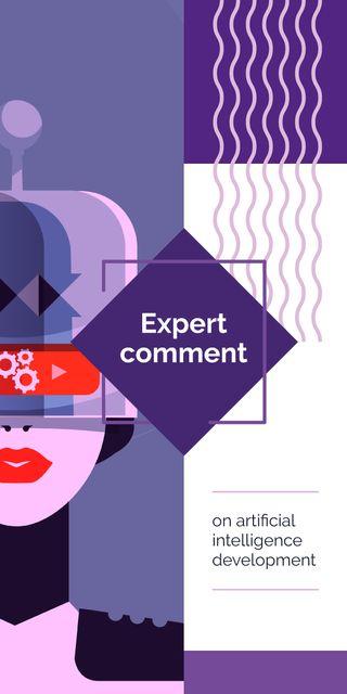 Modèle de visuel Woman using vr device - Graphic