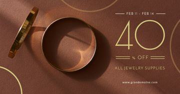 Valentine's Day Jewelry Sale with golden Rings
