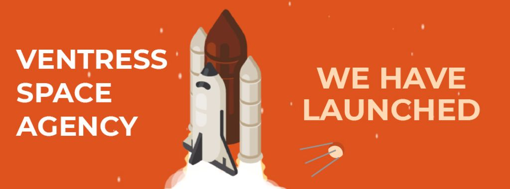 Spaceship launching into space — Создать дизайн