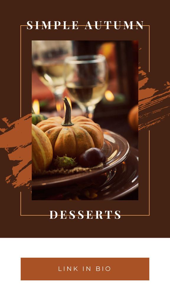 Thanksgiving feast concept with Pumpkin — Crea un design