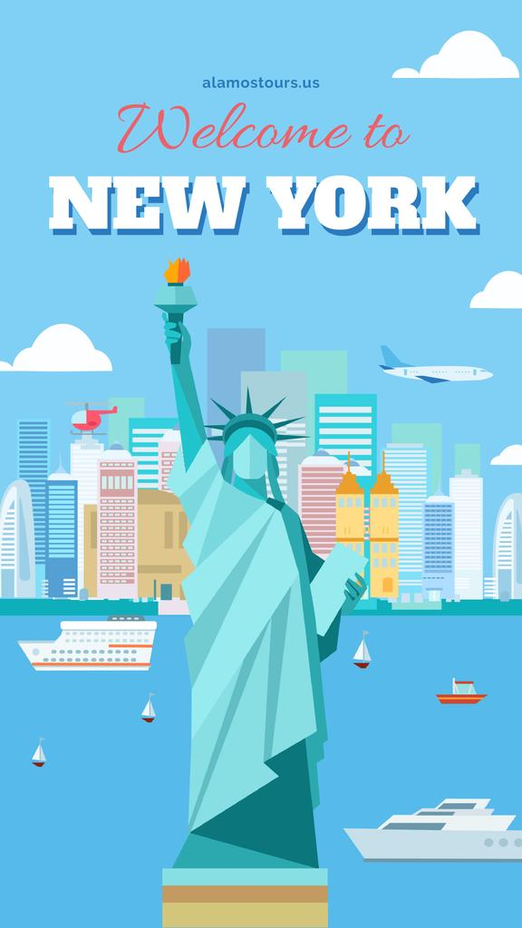 New York city Travel Offer — Maak een ontwerp