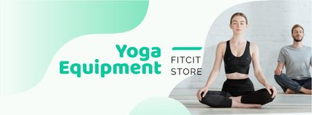 Plantilla de diseño de Yoga Equipment Offer Facebook cover