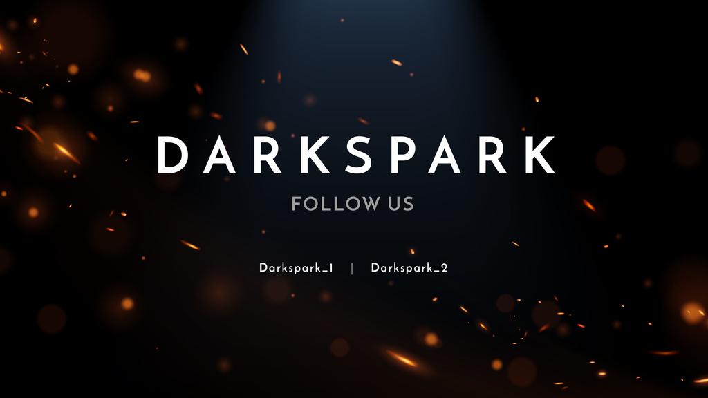 Streaming Channel Ad with Golden glares on dark — ein Design erstellen