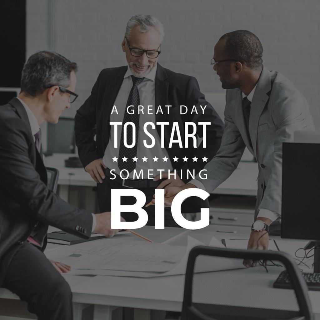 A great day to start big business — Créer un visuel