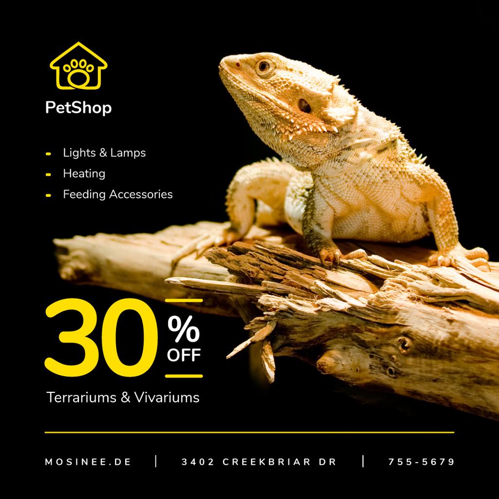 Pet Shop Offer Lizard on a Log — Crear un diseño