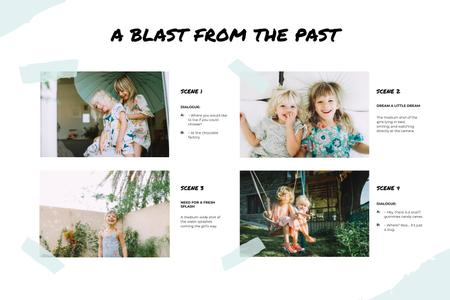 Template di design Funny Photos of two little Girls Storyboard
