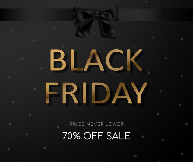 Plantilla de diseño de Black Friday sale with ribbon Facebook