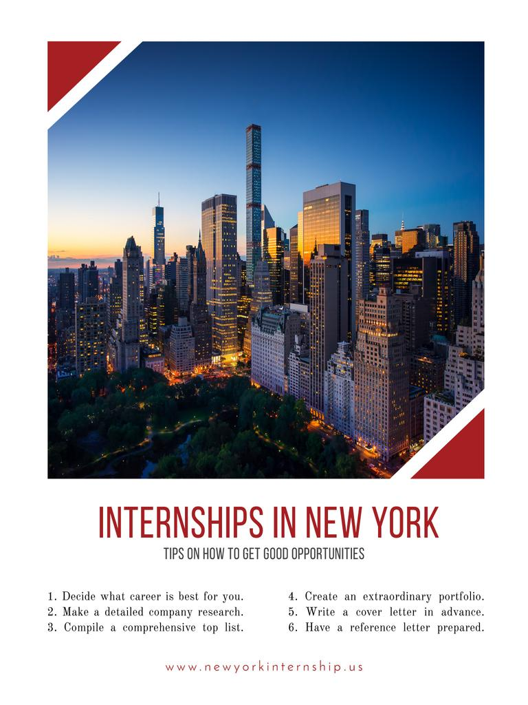 Internships in New York offer — Створити дизайн