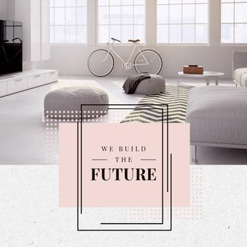 Cozy Home Interior Design in White | Square Video Template