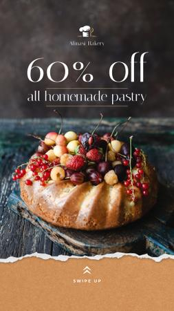 Template di design Bakery Offer Sweet Pie with Berries Instagram Story