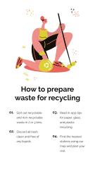 Recycling app promotion