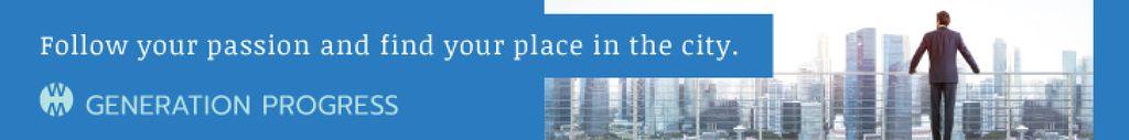 Businessman on City View in Blue — Crear un diseño