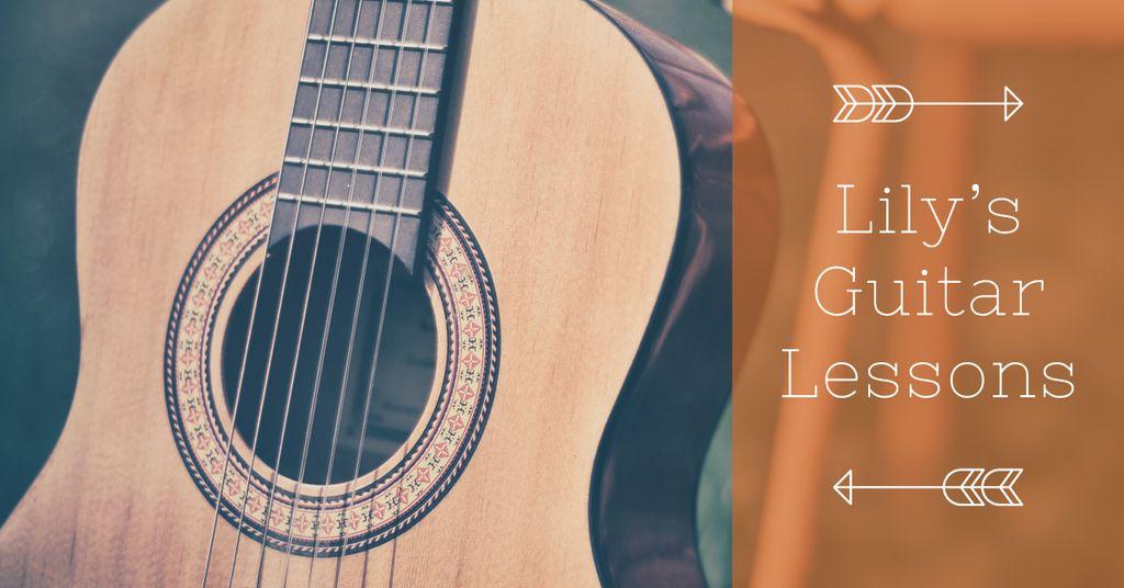 Lily's guitar lessons banner — Modelo de projeto