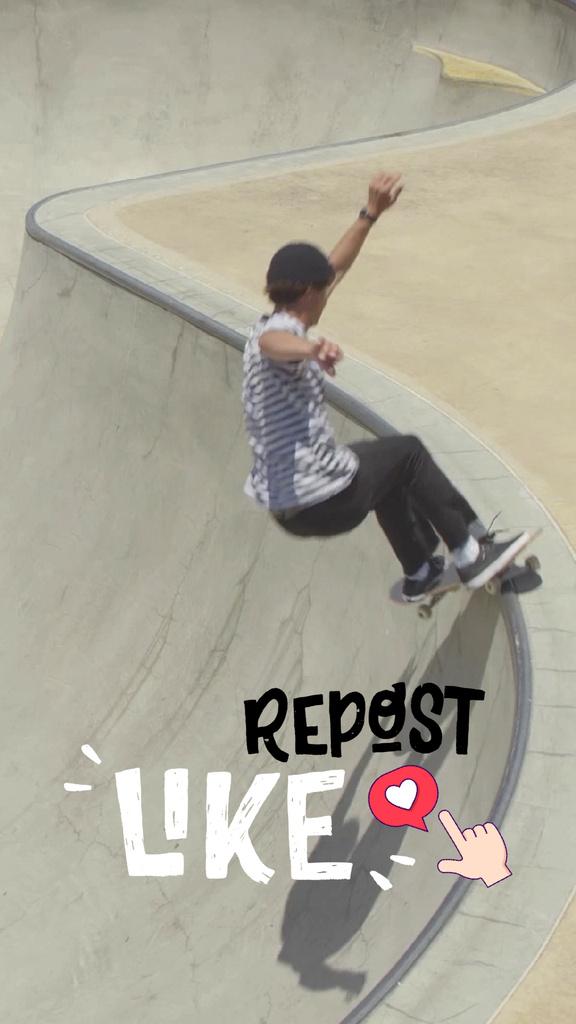 Young Man Riding Skateboard — Crear un diseño