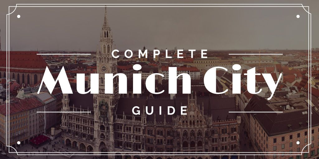 Munich City Guide with Old Buildings View — Créer un visuel