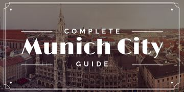 Munich City Guide Old Buildings View | Twitter Post Template
