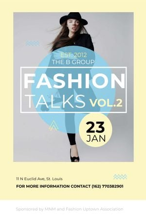 Modèle de visuel Fashion talks announcement with Stylish Woman - Tumblr