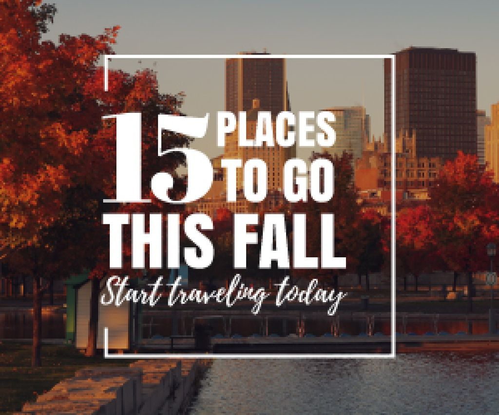 places to go this fall poster — Crear un diseño
