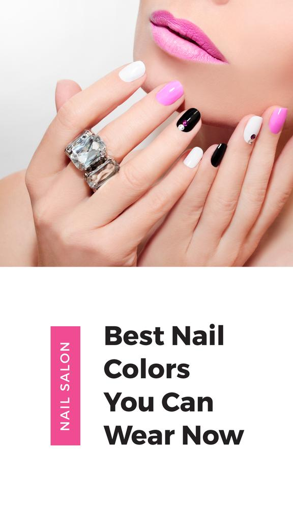 Female Hands with Pastel Nails for Manicure trends — Crear un diseño