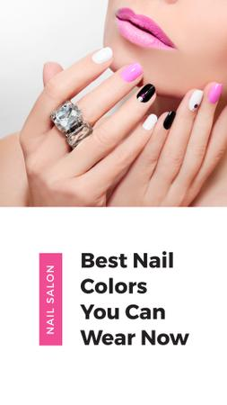 Plantilla de diseño de Female Hands with Pastel Nails for Manicure trends Instagram Story