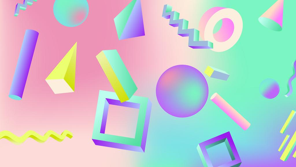 Digital elements retro pattern — Crear un diseño