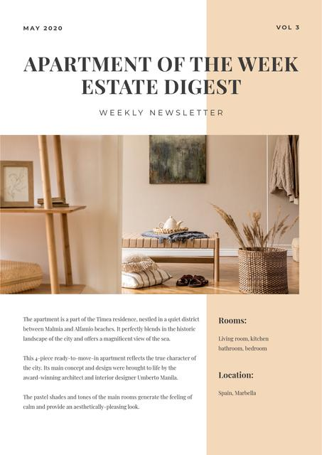 Apartments of the week Review Newsletter Design Template
