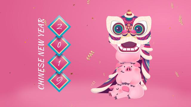 Happy Chinese Pig New Year Full HD video Modelo de Design