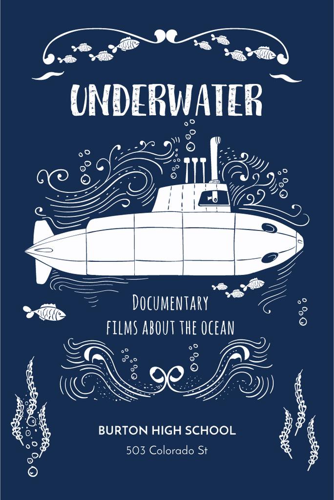 Underwater documentary film Announcement — Crea un design